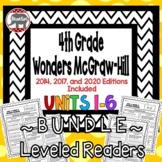 Wonders McGraw Hill 4th Grade Leveled Readers Thinkmark - Units 1-6 *Bundle*