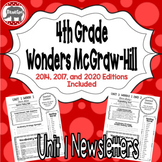 Wonders McGraw Hill 4th Grade Newsletter/Study Guide - Unit 1 (Weeks 1-5)
