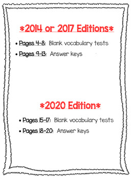 Wonders McGraw Hill 4th Grade Vocabulary Tests - Unit 6