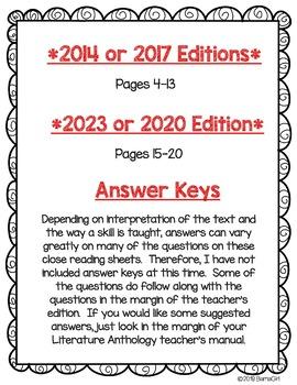 Wonders McGraw Hill 5th Grade Close Reading (Literature Anthology Book) - Unit 1