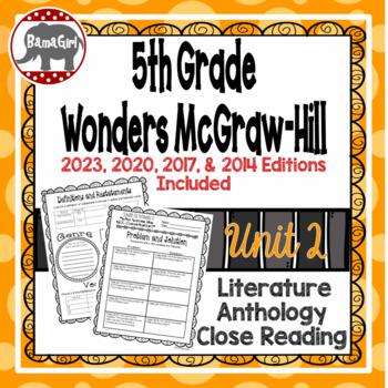 Wonders McGraw Hill 5th Grade Close Reading (Literature Anthology Book) - Unit 2
