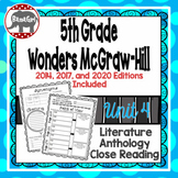 Wonders McGraw Hill 5th Grade Close Reading (Literature Anthology Book) - Unit 4