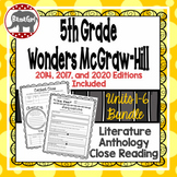 Wonders McGraw Hill 5th Grade Close Reading Literature Anthology Unit 1-6 Bundle