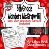 Wonders McGraw Hill 5th Grade Close Reading (Workshop Book) - Complete Unit 1