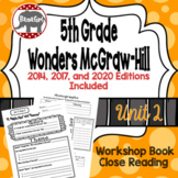 Wonders McGraw Hill 5th Grade Close Reading (Workshop Book) - Complete Unit 2