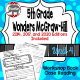 Wonders McGraw Hill 5th Grade Close Reading (Workshop Book) - Complete Unit 4
