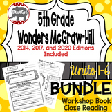 Wonders McGraw Hill 5th Grade Close Reading (Workshop Book) - Units 1-6 *Bundle*