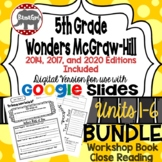 Wonders McGraw Hill 5th Grade Close Reading (Workshop Book) Units 1-6 DIGITAL