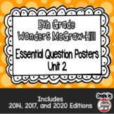 Wonders McGraw Hill 5th Grade Essential Question Posters - Unit 2