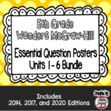 Wonders McGraw Hill 5th Grade Essential Question Posters - Units 1-6 **Bundle**