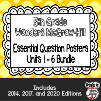Wonders McGraw Hill 5th Grade Essential Question Posters -