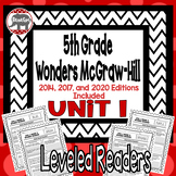 Wonders McGraw Hill 5th Grade Leveled Readers Thinkmark - Unit 1