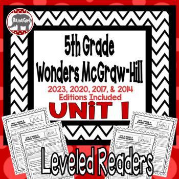 Wonders McGraw Hill 5th Grade Leveled Readers Thinkmark - Unit 1