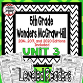 Wonders McGraw Hill 5th Grade Leveled Readers Thinkmark - Unit 3