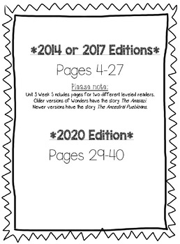 Wonders McGraw Hill 5th Grade Leveled Readers Thinkmark - Unit 3