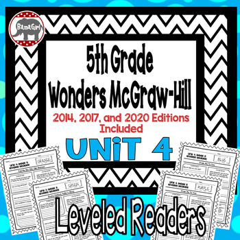Wonders McGraw Hill 5th Grade Leveled Readers Thinkmark - Unit 4