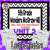 Wonders McGraw Hill 5th Grade Leveled Readers Thinkmark - Unit 5