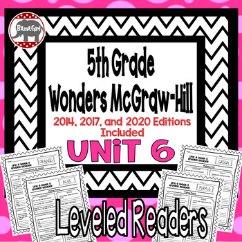 Wonders McGraw Hill 5th Grade Leveled Readers Thinkmark - Unit 6