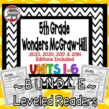Wonders McGraw Hill 5th Grade Leveled Readers Thinkmark - Units 1-6 *Bundle*
