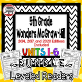 Wonders McGraw Hill 5th Grade Leveled Readers Thinkmark - Units 1-6 *Bundle*