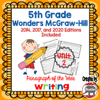 Wonders McGraw Hill 5th Grade Paragraph of the Week - Unit 2