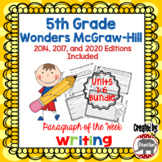 Wonders McGraw Hill 5th Grade Paragraph of the Week - Units 1-6 Bundle