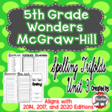 Wonders McGraw Hill 5th Grade Spelling Trifolds - Unit 3