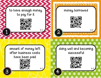 Wonders McGraw Hill 5th Grade Vocabulary QR Code Flashcards - Unit 1