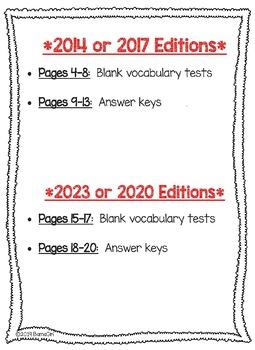 Wonders McGraw Hill 5th Grade Vocabulary Tests - Unit 6