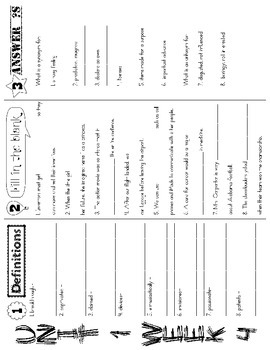 Wonders McGraw Hill 5th Grade Vocabulary Trifold - Unit 1 (Weeks 1-5)