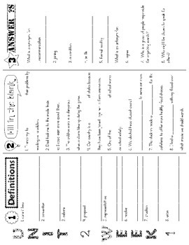 Wonders McGraw Hill 5th Grade Vocabulary Trifold - Unit 2
