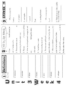 Wonders McGraw Hill 5th Grade Vocabulary Trifold - Unit 3 (Weeks 1-5)