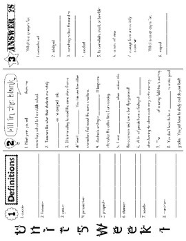 Wonders McGraw Hill 5th Grade Vocabulary Trifold - Unit 5 (Weeks 1-5)