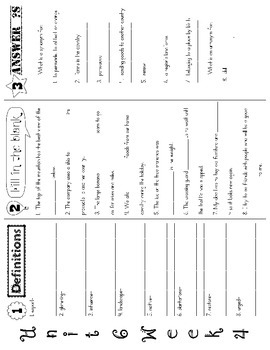 Wonders McGraw Hill 5th Grade Vocabulary Trifold - Unit 6 (Weeks 1-5)