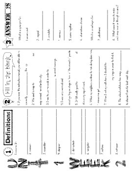 Wonders McGraw Hill 5th Grade Vocabulary Trifold - Units 1-6
