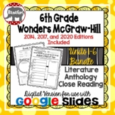 Wonders McGraw Hill 6th Grade Close Read Literature Anthology Units 1-6 DIGITAL