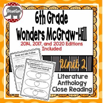 Wonders McGraw Hill 6th Grade Close Reading (Literature Anthology Book) - Unit 2