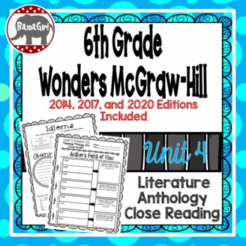 Wonders McGraw Hill 6th Grade Close Reading (Literature Anthology Book) - Unit 4
