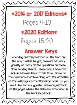 Wonders McGraw Hill 6th Grade Close Reading (Workshop Book) - Unit 2