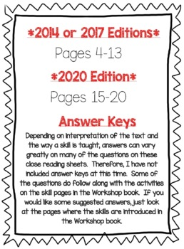 Wonders McGraw Hill 6th Grade Close Reading (Workshop Book) - Unit 3