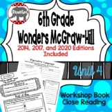 Wonders McGraw Hill 6th Grade Close Reading (Workshop Book) - Unit 4