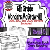 Wonders McGraw Hill 6th Grade Close Reading (Workshop Book) - Unit 5