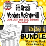 Wonders McGraw Hill 6th Grade Close Reading (Workshop Book) - Units 1-6 *Bundle*