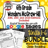 Wonders McGraw Hill 6th Grade Close Reading (Workshop Book) Units 1-6 DIGITAL