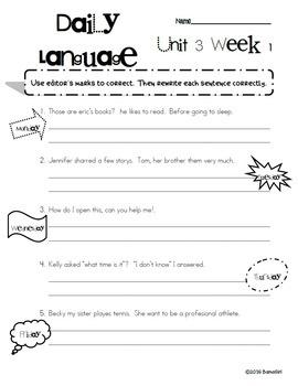 Wonders McGraw Hill 6th Grade Daily Language - Units 1-6 **Bundle**