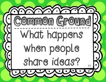Wonders McGraw Hill 6th Grade Essential Question Posters - Unit 3