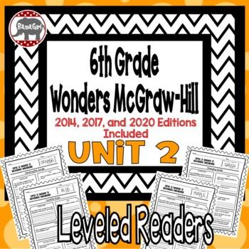 Wonders McGraw Hill 6th Grade Leveled Readers Thinkmark - Unit 2