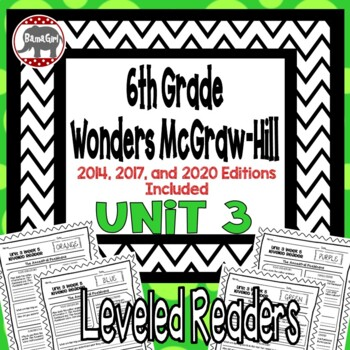 Wonders McGraw Hill 6th Grade Leveled Readers Thinkmark - Unit 3
