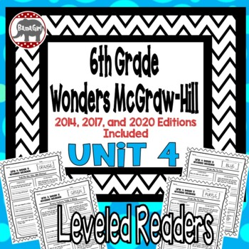 Wonders McGraw Hill 6th Grade Leveled Readers Thinkmark - Unit 4
