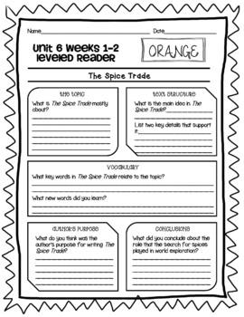 Wonders McGraw Hill 6th Grade Leveled Readers Thinkmark - Unit 6